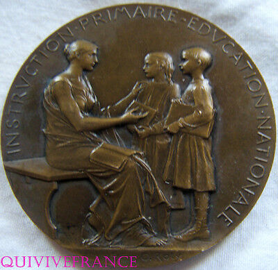 MED4110 - MEDAILLE INSTRUCTION PUBLIQUE Directrice Ecole Vaucluse 1906  O.ROTY
