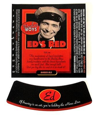 Barley Boys Brewery by Frankenmuth ED'S RED AMBER ALE beer label NE 12oz