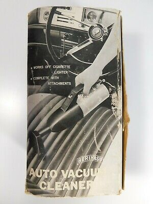 Vintage 1960s Car / Auto Vacuum Cleaner Red/Black by Beriyasu NEW IN BOX