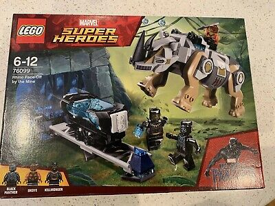 Lego MARVEL Super Heroes Black Panther Rhino Face-Off the Mine 76099 set RETIRED