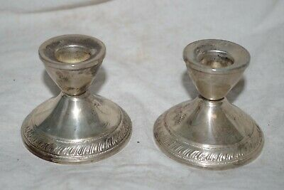 Vintage Sterling Silver Duchin Weighted Small Candlesticks 246.9 Gram
