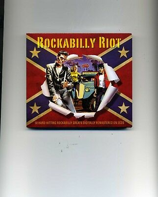Rockabilly Riot - Johnny Burnette Carl Perkins Elvis Presley - 2 Cds - New!!