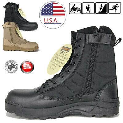 SWAT Men's Tactical Duty Boots Army Military Work Boot Hiking Shoes