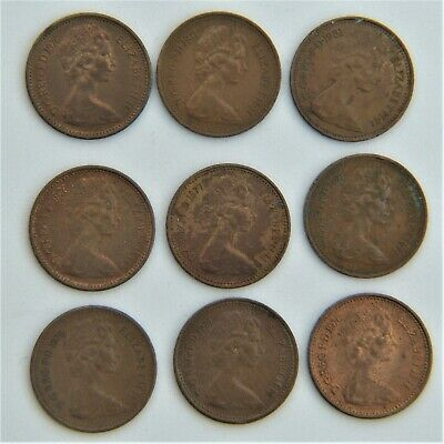 9 New Half Penny Coins - Decimal - British Gb Uk