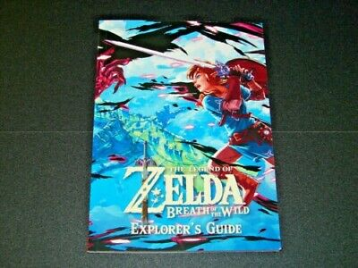 Explorers Guide for Legend of Zelda:Breath of the Wild Nintendo Switch BOOK ONLY