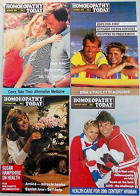 4 x HOMOEOPATHY TODAY MAGAZINES - Complementary / Alternative Medicine - 1986
