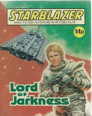 Lord Of Jarkness,starblazer Space Fiction Adventure In Pictures,comic,no.35