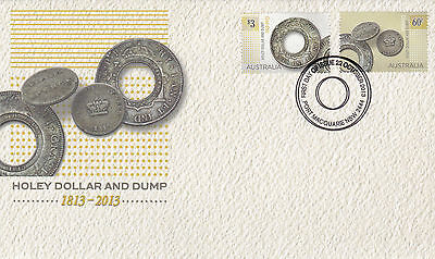 2013 Holey Dollar and Dump: 1813-2013 (Gummed Stamps) FDC - Port Macquarie PMK