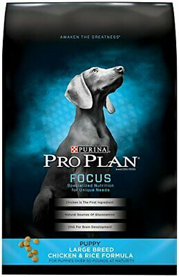 Purina Pro Plan Large Breed Dry Puppy Food; FOCUS Chicken & Rice Formula - 34 lb
