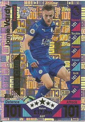 Match Attax 2016/17 100 Hundred Club Cards Vardy Pogba Pick What You Need Mint