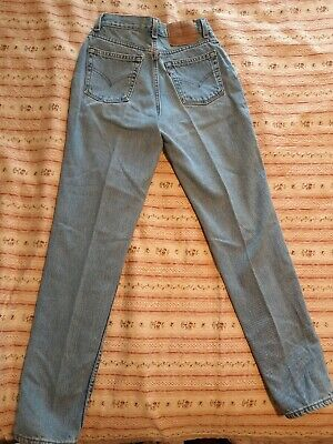 e22d63a6861 Vintage Levis 512 Blue Jeans Womens 7 JR M Slim Fit Tapered Leg Light Wash