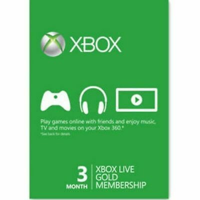 3 Month Xbox Live Gold Membership Subscription Code