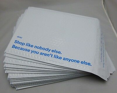 """15 eBay Branded Airjacket Envelopes 9.5"""" x 13.25"""" Padded Adhesive Bubble Mailers"""
