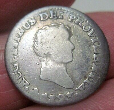 1823 Jm (Mexico) 1/2 Real (Iturbide) Silver --- One Year---