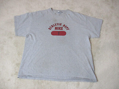 e4efbcf0a7f4 VINTAGE Nike Shirt Adult Extra Large Gray Red Athletic Dept Gray Tag Mens  90s