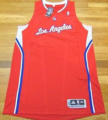 cd7cdbcd4a1 Adidas Nba Revolution 30 Los Angeles Clippers Red Authentic Blank Jersey  3Xl+2