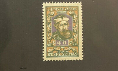 LITHUANIA  92a  Beautiful  Mint  Light  Hinged  Value   Issue  BD34