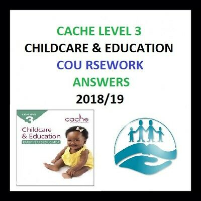 CACHE Level 3 Childcare & Education/COURSEWORK High Graded Answers 2018/2019CD