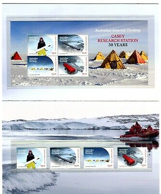 2019 AAT Casey Research Station 50 Years POP With Stamps & Mini Sheet