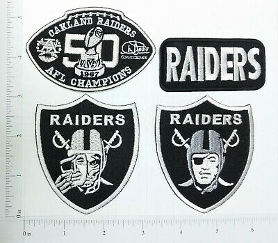 NFL Oakland Raiders Embroidered Iron On Patch Logo Badge for shirt high quality