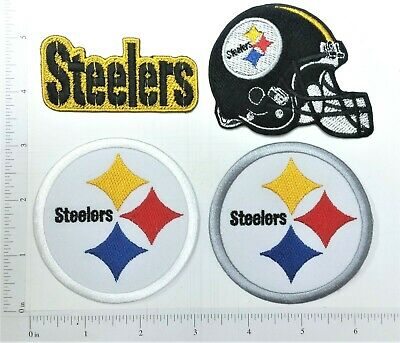 4 3 4 Old School Pittsburgh Steelers Embroidered Patch
