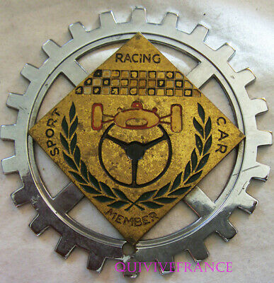 Badge De Calandre Sport Racing Car Member