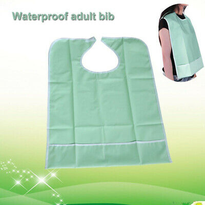 Waterproof Adult Mealtime Bib Protector Disability Aid Clothes Dining Cook Apron