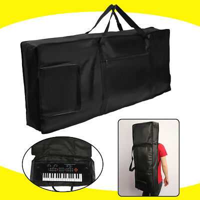 61/88key Thick Padded Electronic Piano Keyboard Bag W/Shoulder Cover