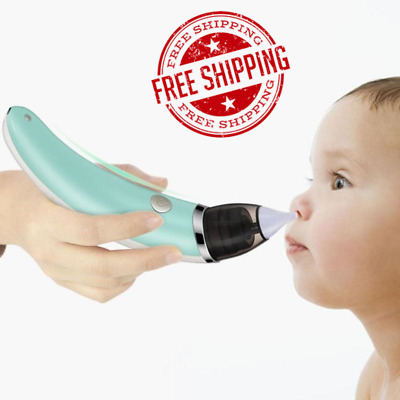 Baby Soft Nose Cleaner Nasal Aspirator Snot Sucker Electric Safe Hygienic Oral