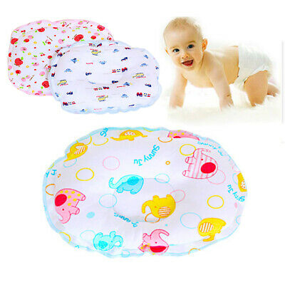 UK Newborn Baby Head Support Soft Cartoon Pillow Protect Head Shape Sleep -ME54