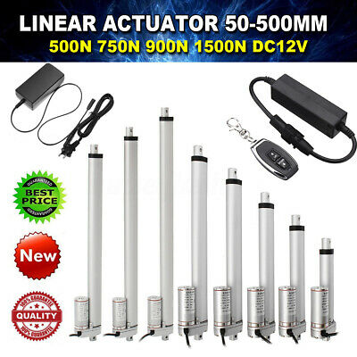 Linear Actuator 12V Electric Motor 500~1500N 50~300mm Solar Tracker Door