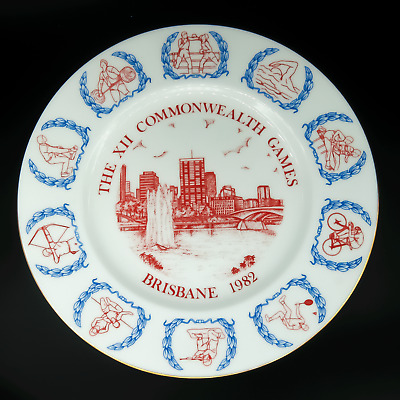 Coalport Plate 1982 Commonwealth Games Memorabilia Brisbane Vintage Queensland