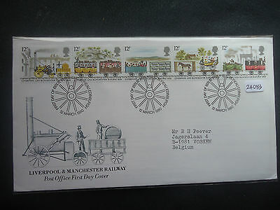 Great Britain 1980 railways First Day Cover (bureau H/S) + MNH set