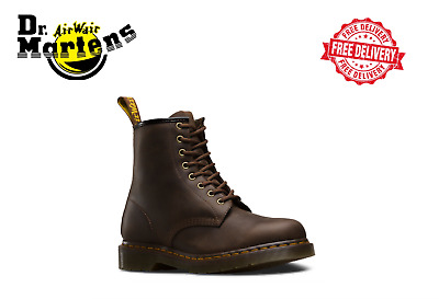 Dr Martens 1460 UNISEX Crazy Horse 8 Lace Up Leather Boots Gaucho Brown RRP $249