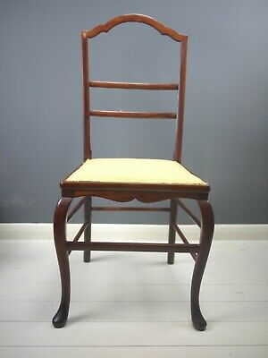 Antique Mahogany Hall Bedroom Bathroom Chair Cabriole Legs Country House French