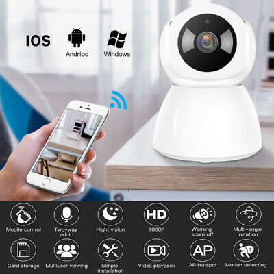 1080P Wireless IP Camera CCTV Security Wifi Webcam Home Baby/Pet Cam Monitor