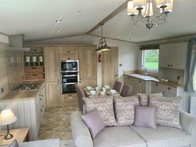 Stunning 2019 single unit lodge with glass decking available now North Wales