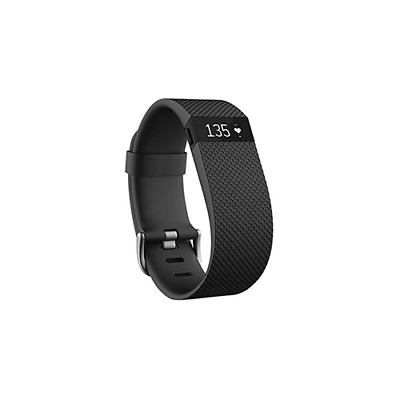 Fitbit Charge HR FB405BKL Activity Tracker with Heart Rate Monitor Large Black
