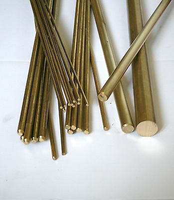 Brass Round Bar 2 mm  (Various Lengths Available)