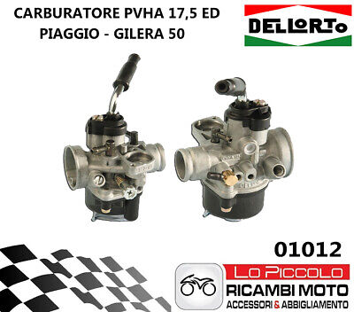 01012 Carburatore Dell'orto Phva 17,5 Ed Scooter Gilera Dna Stalker Ice Easy 50