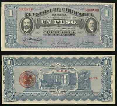 Mexico 1 Peso 1914 Chihuahua Revolution Revolutionary Latino Currency Bank Note 2019 Official North & Central America Mexico