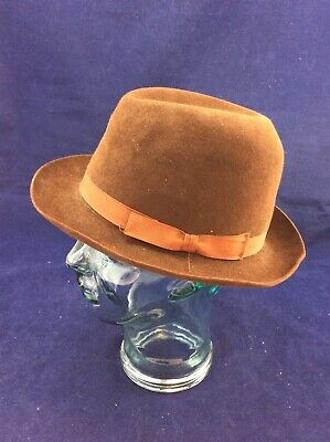 82898e13712 Vintage Christys  London Size Medium 22.4 cm - Men s Dark Brown Felt Trilby  Hat