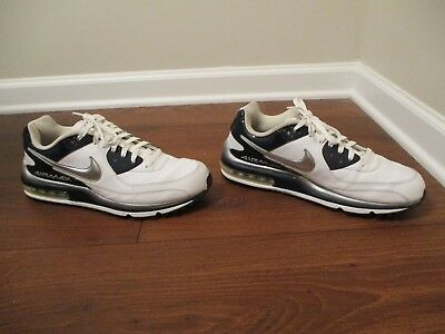 USED WORN SIZE 12 Nike Air Max Wright Shoes White Navy