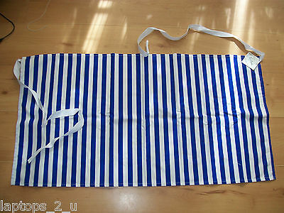 Blue & White Striped Waist Apron with Teflon Restaurant Chef Catering