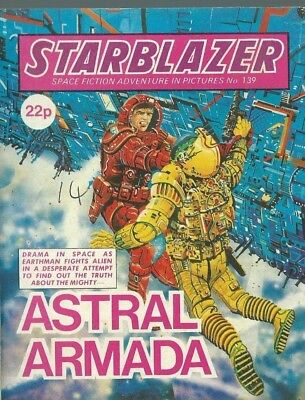 Astral Armada,starblazer Space Fiction Adventure In Pictures,comic,no.139