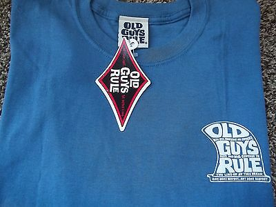 Old Guys Rule Give some Respect..Get Some Respect T-Shirt~NEW~Size L