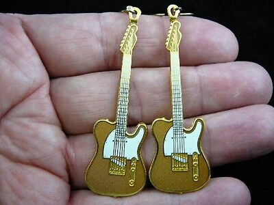 (M-224-D) FENDER TELECASTER Electric guitar music Earrings Pick 1 of 4 colors