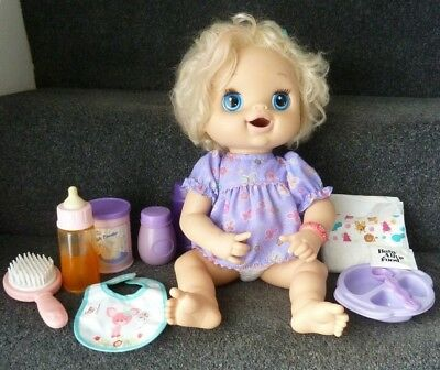 Baby Alive Hasbro 2010 Interactive Doll Talks Eat Poop Pees with Accessories  *