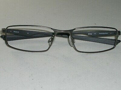 0605f3a53b Oakley Socket 4.0 53  18 133 Sleek Matte Black pewter Flex Metal Eyeglass