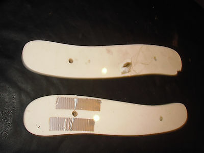 Antique Barber Chair Parts--Top Of A Kochs Two Piece Arm Rest White Glass